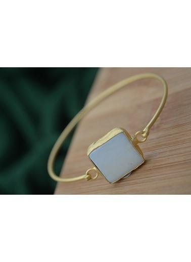 Stoneage Altın Kaplama Sedef Taşlı Bileklik Altın